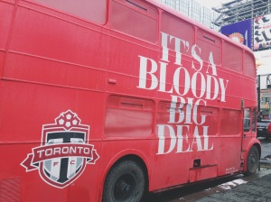 The new TFC double-decker to celebrate the signing of Jermain Defoe