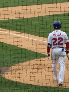 Kevin Pillar goes up to bat