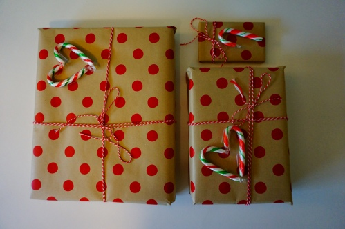 I was totally in love with my present wrapping theme this year. thanks pinterest!