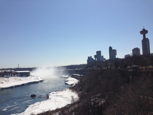 The falls were starting to thaw after a long winter