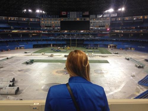 In the press box at the Rogers Centre. DREAMS COME TRUE
