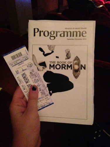 I finally got to see the Book of Mormon!