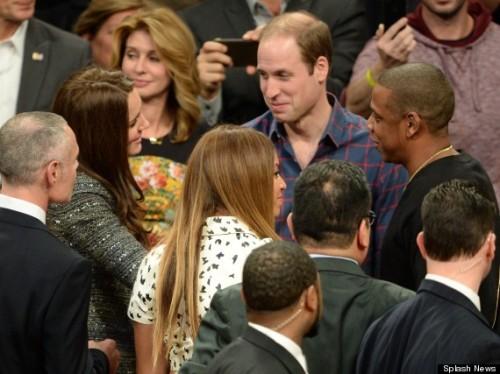 The Duke and Duchess of Cambridge watch NBA Basketball
