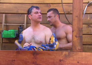Jimmy Kimmel and Chris Soules from this season of The Bachelor