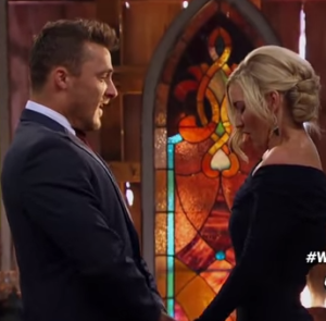 Chris soules and whitney bischoff on the bachelor finale