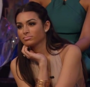 Ashley Iaconetti at the women tell all episode of the bachelor